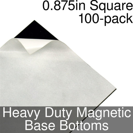 Miniature Base Bottoms, Square, 0.875inch, Heavy Duty Magnet (100) - LITKO Game Accessories