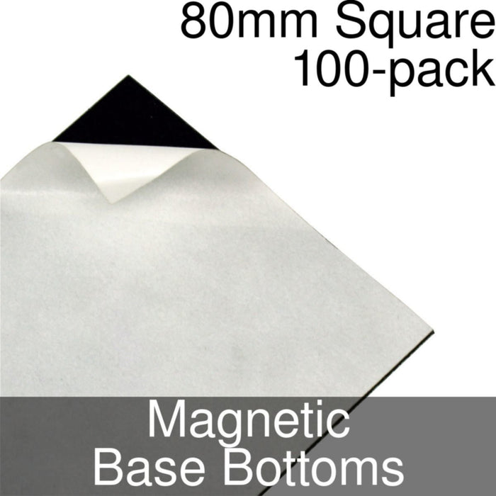 Miniature Base Bottoms, Square, 80mm, Magnet (100) - LITKO Game Accessories