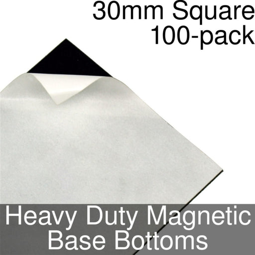 Miniature Base Bottoms, Square, 30mm, Heavy Duty Magnet (100) - LITKO Game Accessories