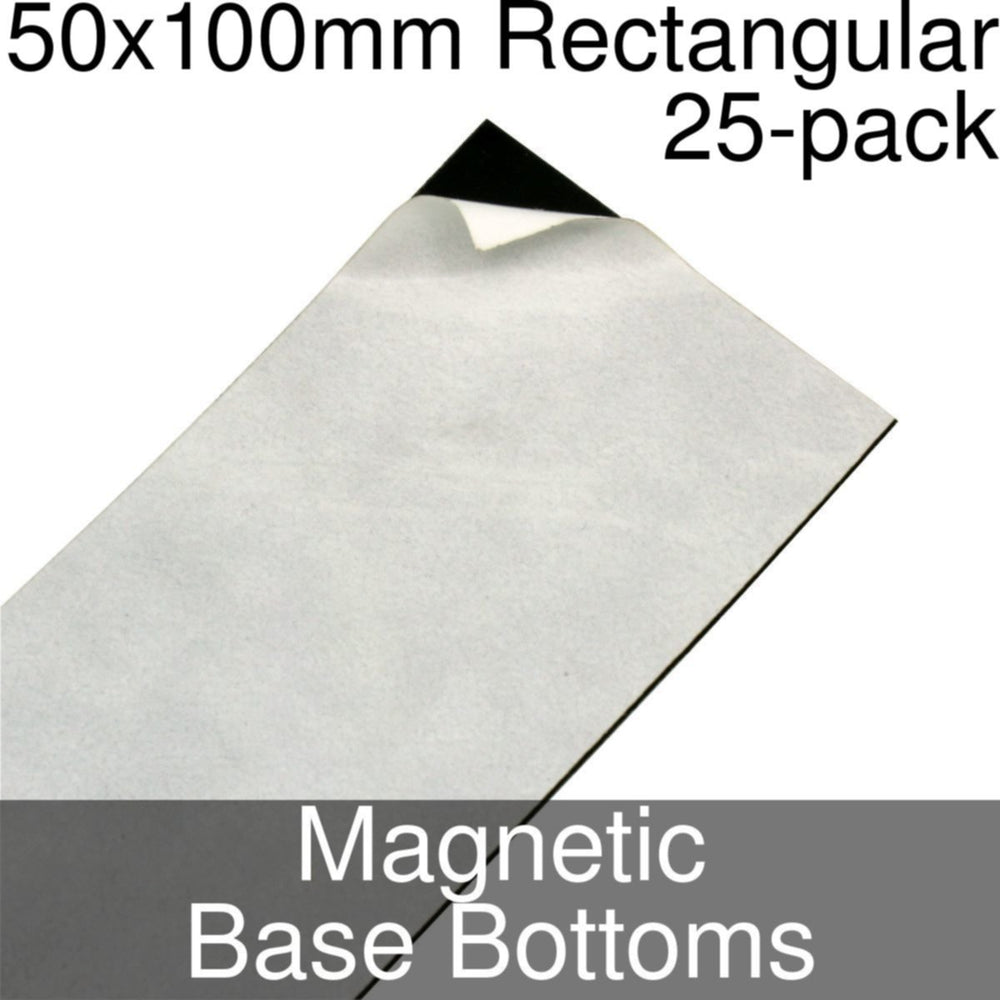 Miniature Base Bottoms, Rectangular, 50x100mm, Magnet (25) - LITKO Game Accessories