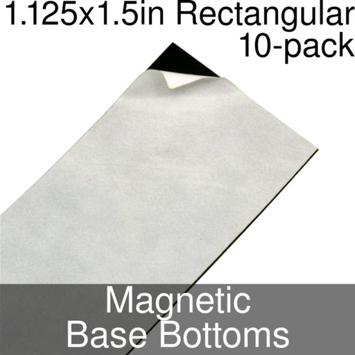 Miniature Base Bottoms, Rectangular, 1.125x1.5inch, Magnet (10) - LITKO Game Accessories