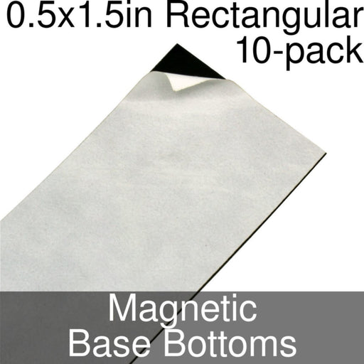 Miniature Base Bottoms, Rectangular, 0.5x1.5inch, Magnet (10) - LITKO Game Accessories