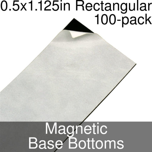 Miniature Base Bottoms, Rectangular, 0.5x1.125inch, Magnet (100) - LITKO Game Accessories
