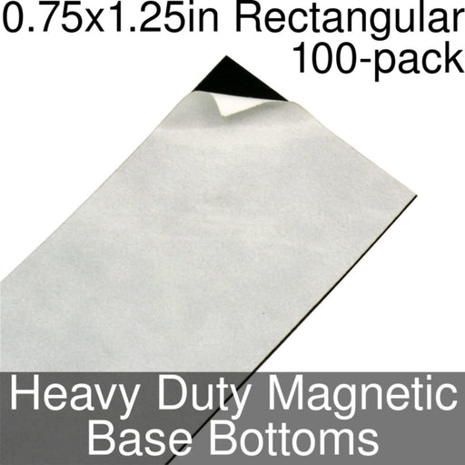 Miniature Base Bottoms, Rectangular, 0.75x1.25inch, Heavy Duty Magnet (100) - LITKO Game Accessories