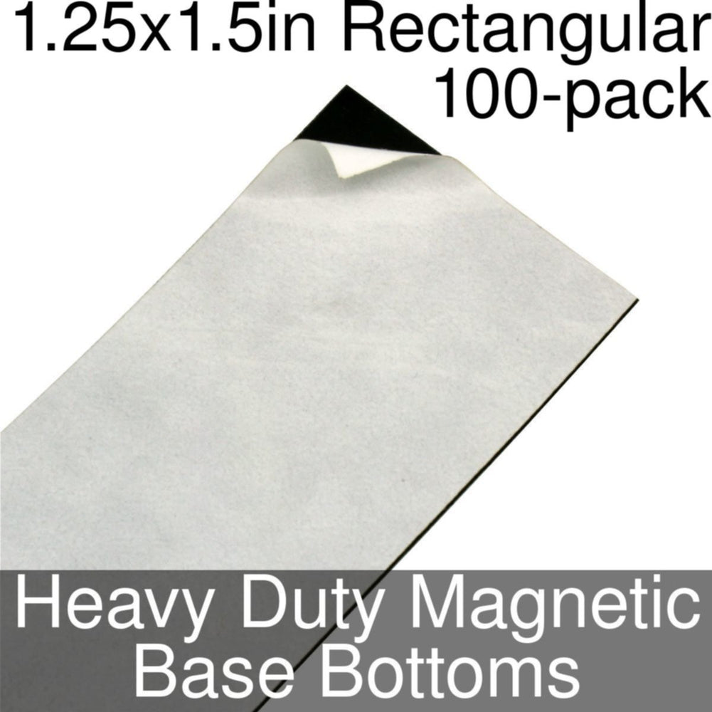 Miniature Base Bottoms, Rectangular, 1.25x1.5inch, Heavy Duty Magnet (100) - LITKO Game Accessories