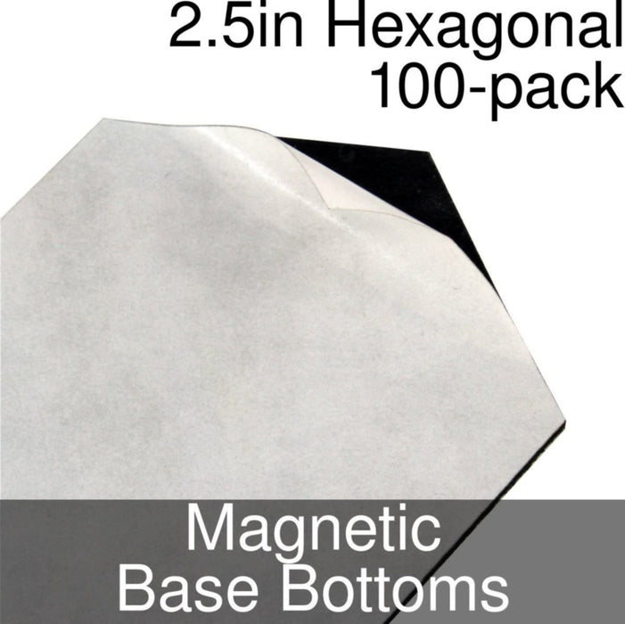 Miniature Base Bottoms, Hexagonal, 2.5inch, Magnet (100) - LITKO Game Accessories