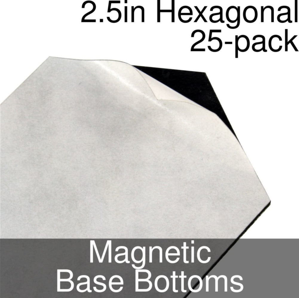 Miniature Base Bottoms, Hexagonal, 2.5inch, Magnet (25) - LITKO Game Accessories