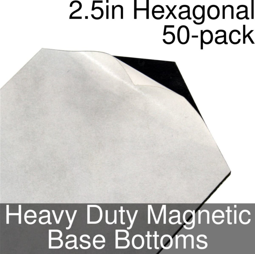 Miniature Base Bottoms, Hexagonal, 2.5inch, Heavy Duty Magnet (50) - LITKO Game Accessories