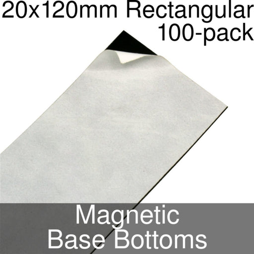 Miniature Base Bottoms, Rectangular, 20x120mm, Magnet (100) - LITKO Game Accessories