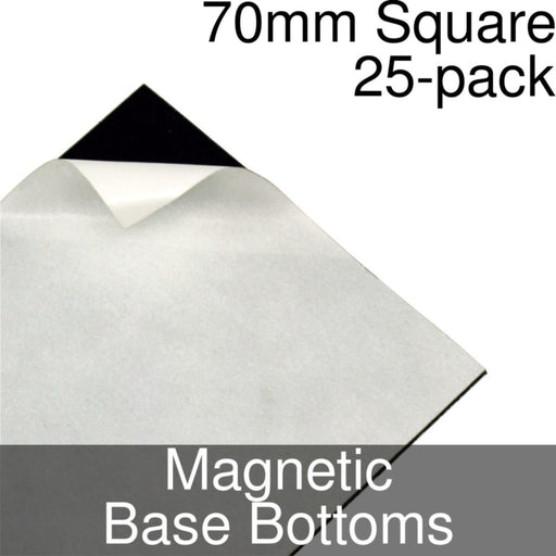 Miniature Base Bottoms, Square, 70mm, Magnet (25) - LITKO Game Accessories