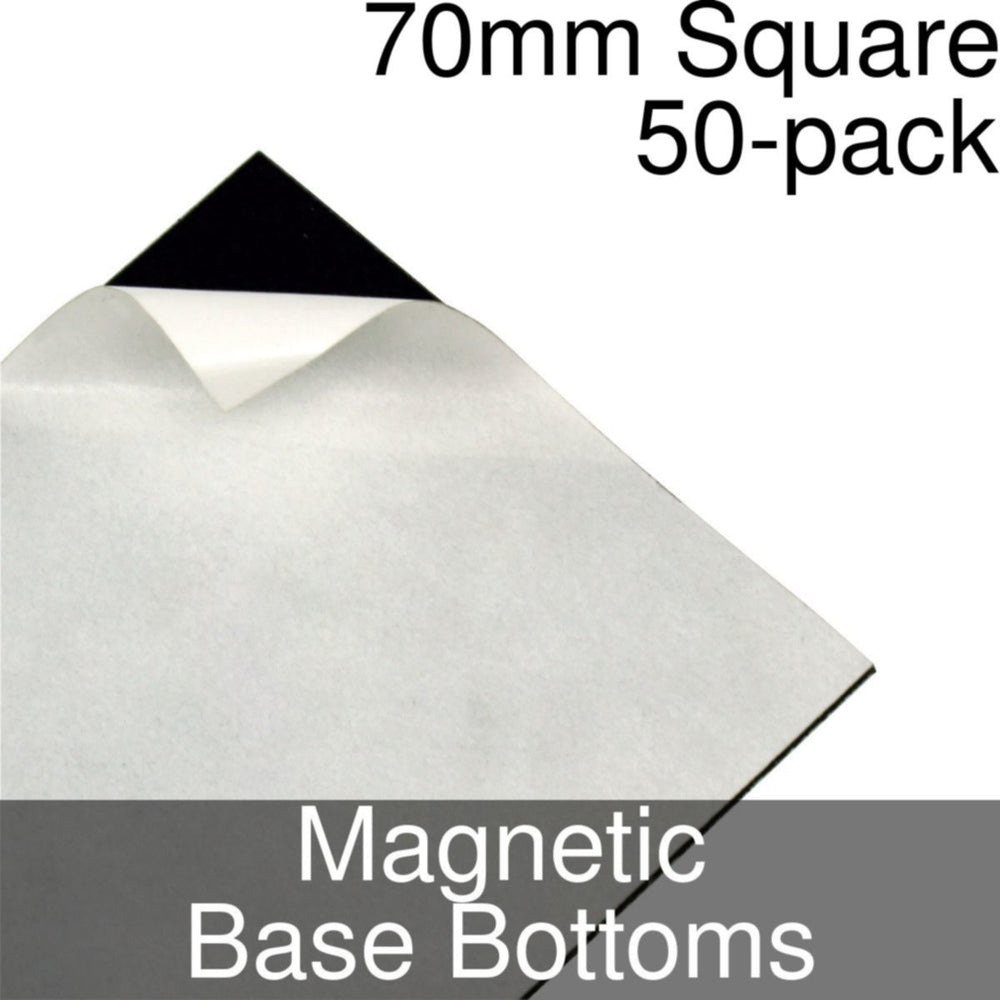 Miniature Base Bottoms, Square, 70mm, Magnet (50) - LITKO Game Accessories