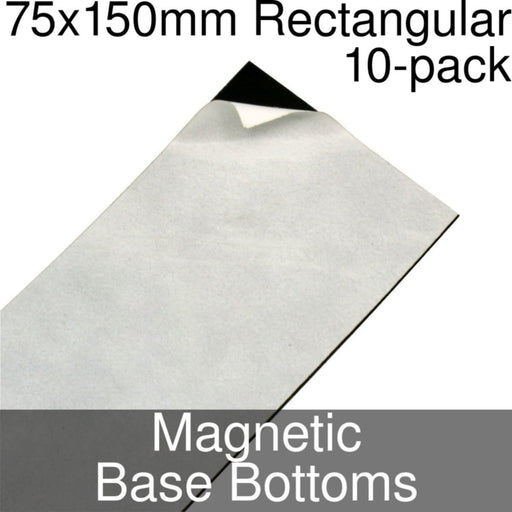 Miniature Base Bottoms, Rectangular, 75x150mm, Magnet (10) - LITKO Game Accessories