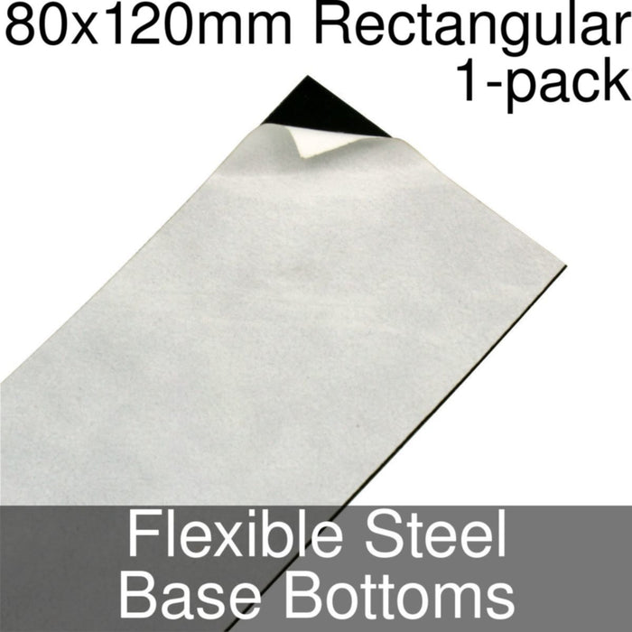 Miniature Base Bottoms, Rectangular, 80x120mm, Flexible Steel (1) - LITKO Game Accessories