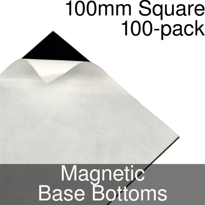 Miniature Base Bottoms, Square, 100mm, Magnet (100) - LITKO Game Accessories