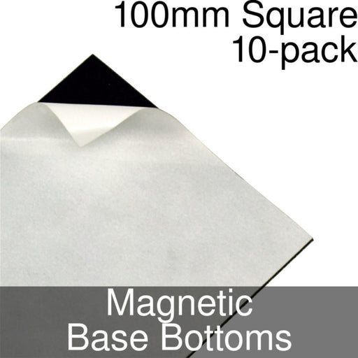 Miniature Base Bottoms, Square, 100mm, Magnet (10) - LITKO Game Accessories