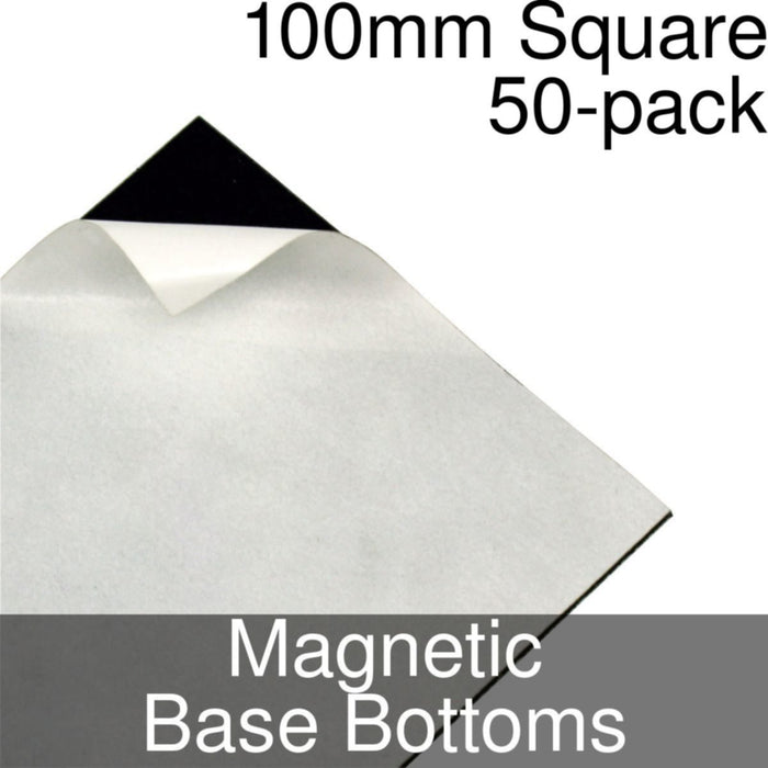 Miniature Base Bottoms, Square, 100mm, Magnet (50) - LITKO Game Accessories