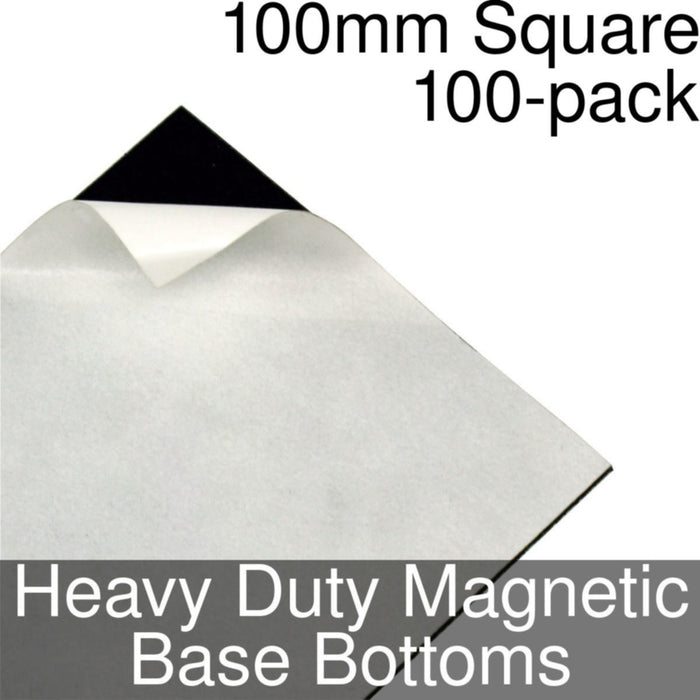 Miniature Base Bottoms, Square, 100mm, Heavy Duty Magnet (100) - LITKO Game Accessories