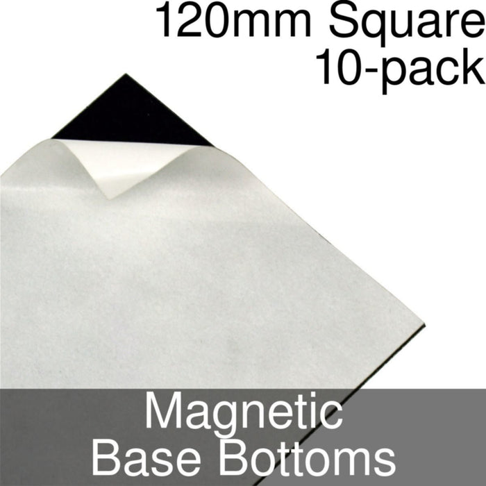 Miniature Base Bottoms, Square, 120mm, Magnet (10) - LITKO Game Accessories