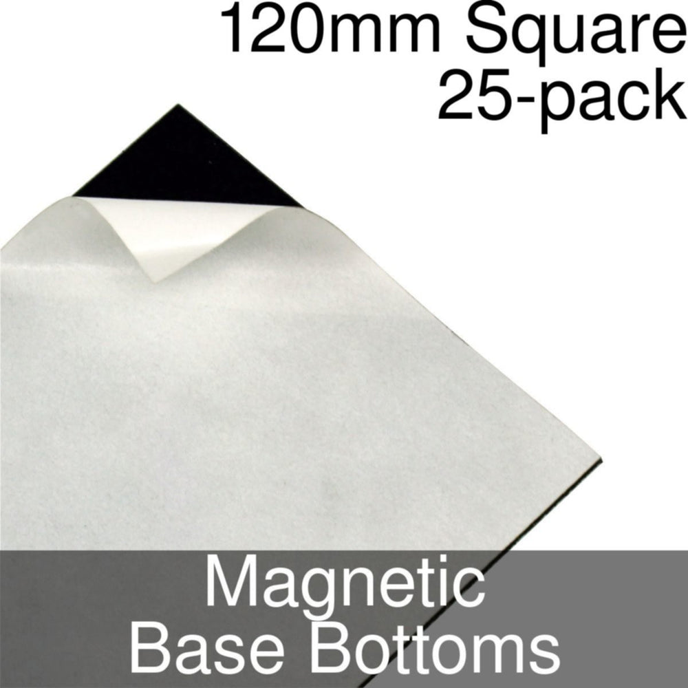 Miniature Base Bottoms, Square, 120mm, Magnet (25) - LITKO Game Accessories