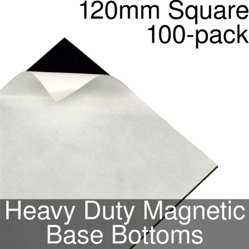 Miniature Base Bottoms, Square, 120mm, Heavy Duty Magnet (100) - LITKO Game Accessories