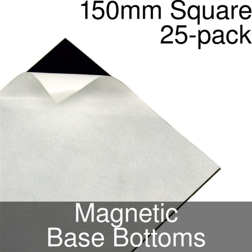 Miniature Base Bottoms, Square, 150mm, Magnet (25) - LITKO Game Accessories