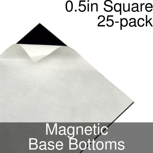 Miniature Base Bottoms, Square, 0.5inch, Magnet (25) - LITKO Game Accessories
