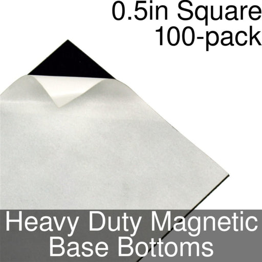 Miniature Base Bottoms, Square, 0.5inch, Heavy Duty Magnet (100) - LITKO Game Accessories