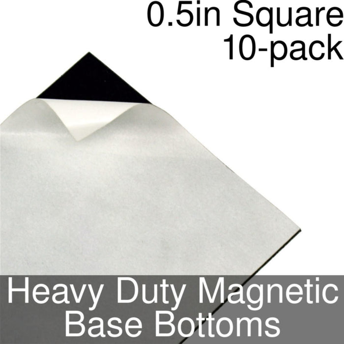 Miniature Base Bottoms, Square, 0.5inch, Heavy Duty Magnet (10) - LITKO Game Accessories