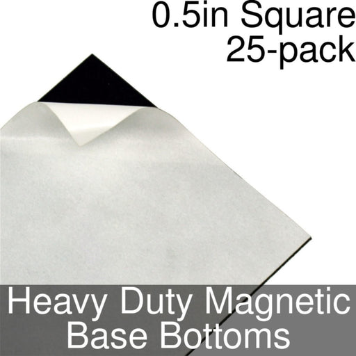 Miniature Base Bottoms, Square, 0.5inch, Heavy Duty Magnet (25) - LITKO Game Accessories