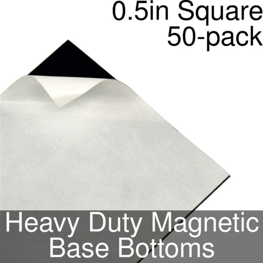 Miniature Base Bottoms, Square, 0.5inch, Heavy Duty Magnet (50) - LITKO Game Accessories