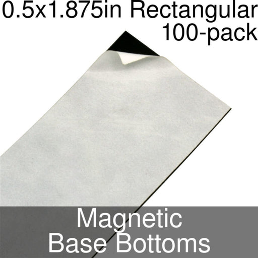 Miniature Base Bottoms, Rectangular, 0.5x1.875inch, Magnet (100) - LITKO Game Accessories