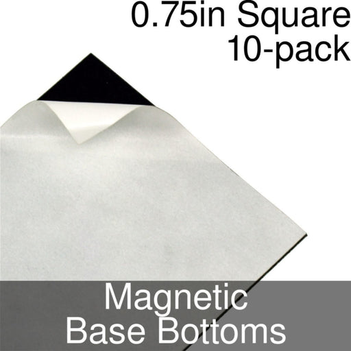 Miniature Base Bottoms, Square, 0.75inch, Magnet (10) - LITKO Game Accessories