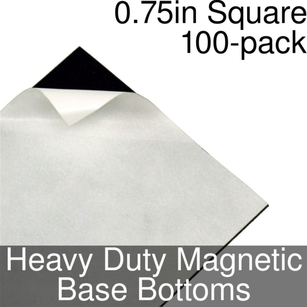 Miniature Base Bottoms, Square, 0.75inch, Heavy Duty Magnet (100) - LITKO Game Accessories