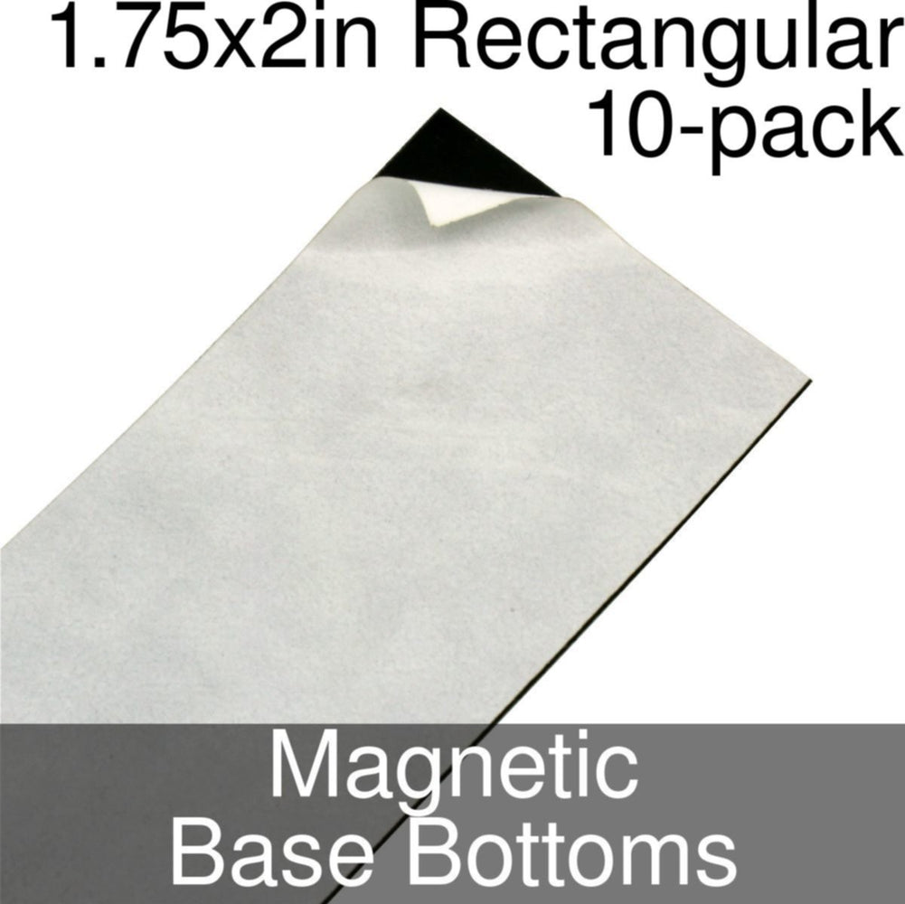 Miniature Base Bottoms, Rectangular, 1.75x2inch, Magnet (10) - LITKO Game Accessories