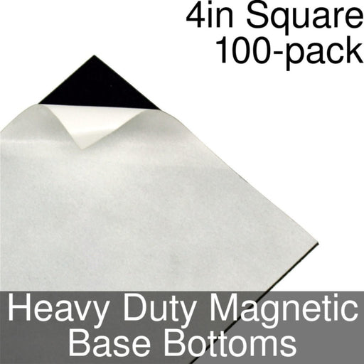 Miniature Base Bottoms, Square, 4inch, Heavy Duty Magnet (100) - LITKO Game Accessories