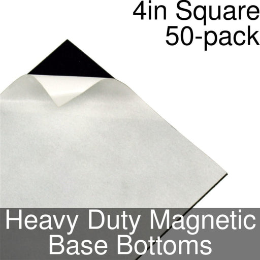 Miniature Base Bottoms, Square, 4inch, Heavy Duty Magnet (50) - LITKO Game Accessories