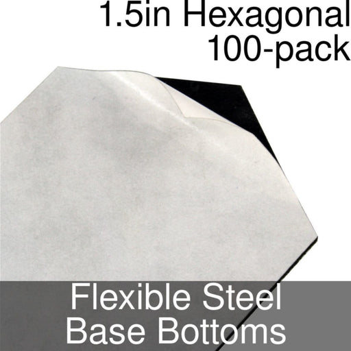 Miniature Base Bottoms, Hexagonal, 1.5inch, Flexible Steel (100) - LITKO Game Accessories