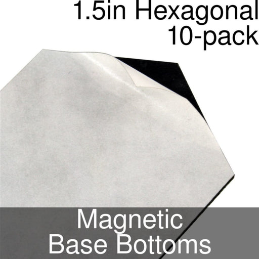 Miniature Base Bottoms, Hexagonal, 1.5inch, Magnet (10) - LITKO Game Accessories
