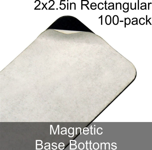 Miniature Base Bottoms, Rectangular, 2x2.5in (Rounded Corners), Magnet (100) - LITKO Game Accessories