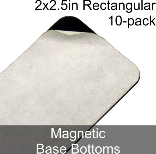Miniature Base Bottoms, Rectangular, 2x2.5in (Rounded Corners), Magnet (10) - LITKO Game Accessories