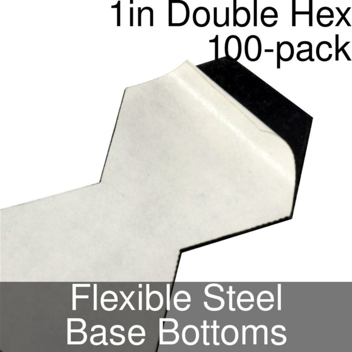 Miniature Base Bottoms, Double Hex, 1inch, Flexible Steel (100) - LITKO Game Accessories