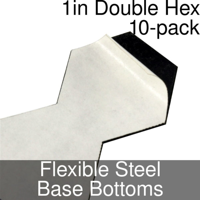 Miniature Base Bottoms, Double Hex, 1inch, Flexible Steel (10) - LITKO Game Accessories