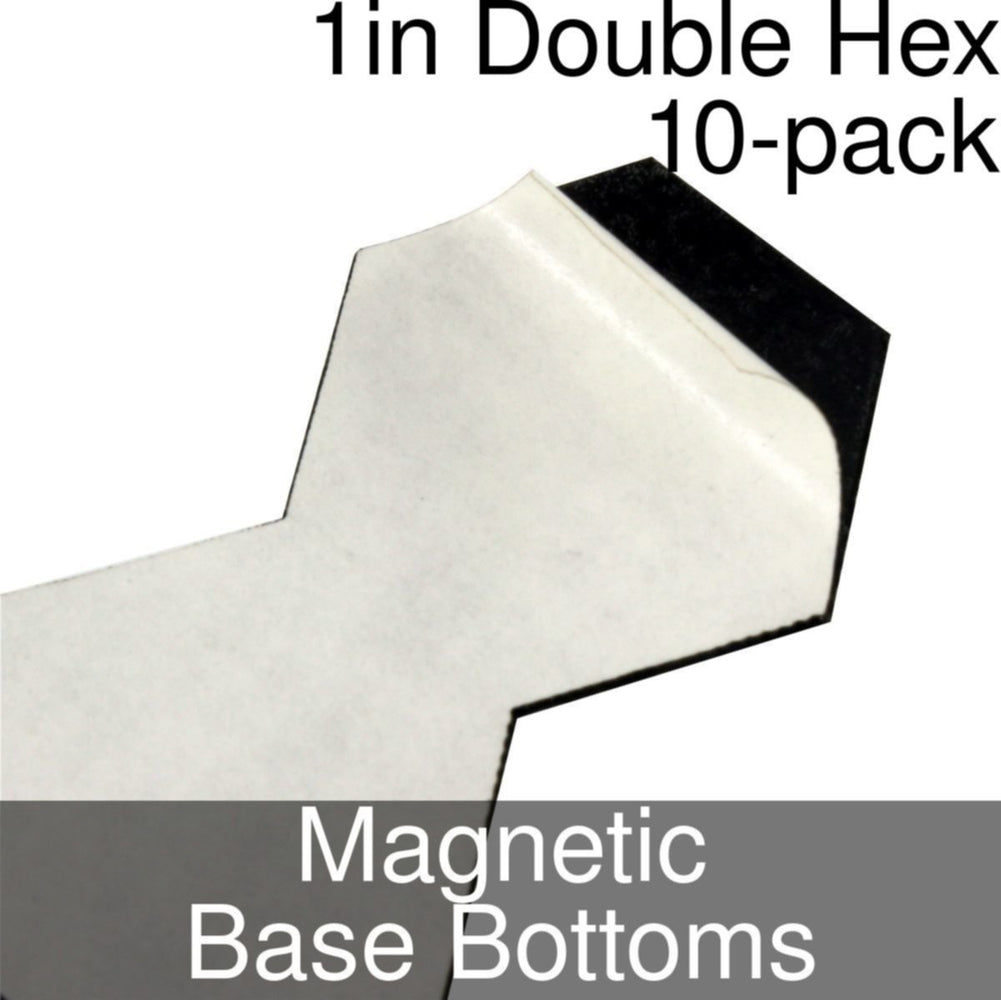 Miniature Base Bottoms, Double Hex, 1inch, Magnet (10) - LITKO Game Accessories