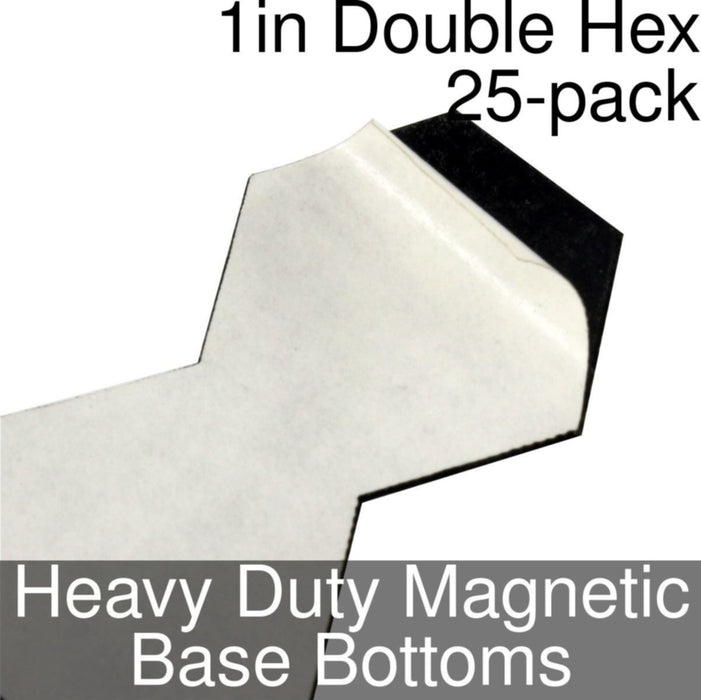 Miniature Base Bottoms, Double Hex, 1inch, Heavy Duty Magnet (25) - LITKO Game Accessories