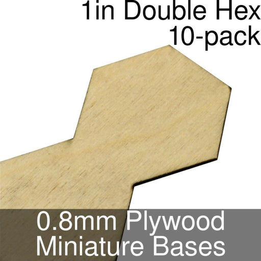 Miniature Bases, Double Hex, 1inch, 0.8mm Plywood (10) - LITKO Game Accessories