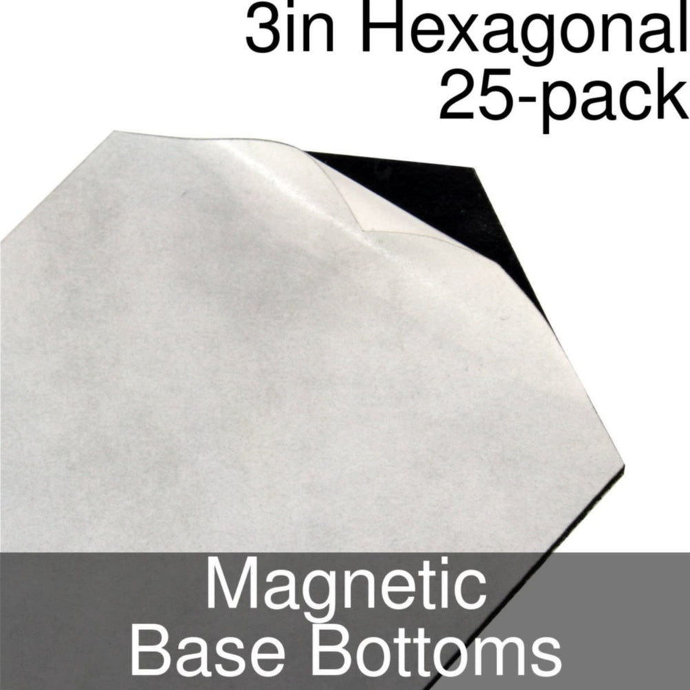 Miniature Base Bottoms, Hexagonal, 3inch, Magnet (25) - LITKO Game Accessories