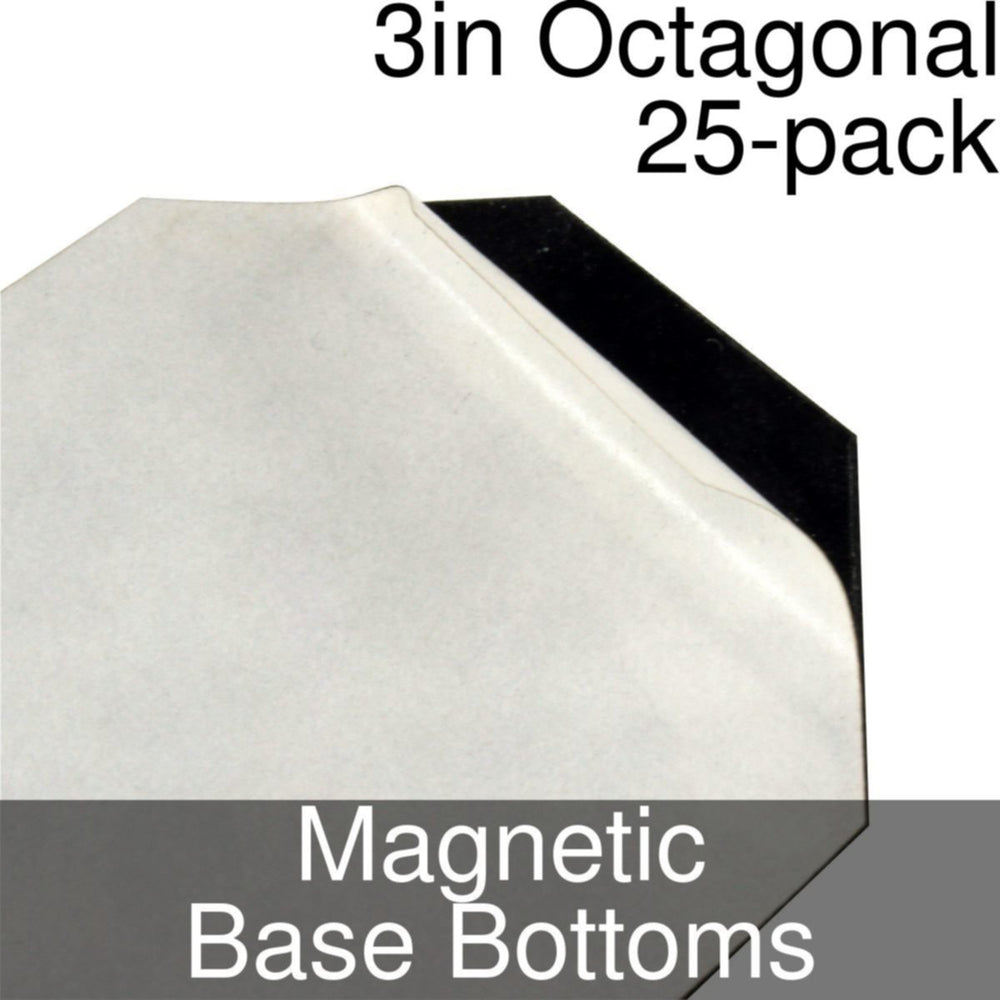Miniature Base Bottoms, Octagonal, 3inch, Magnet (25) - LITKO Game Accessories