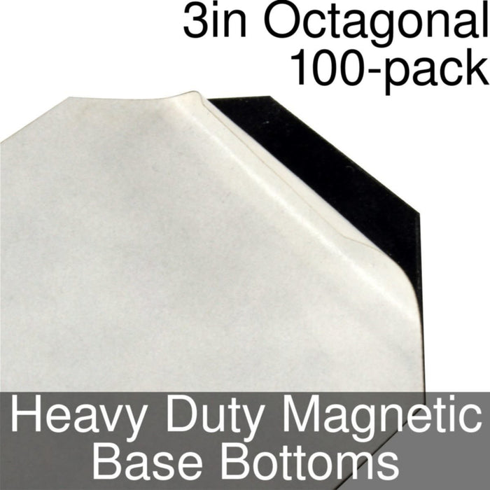 Miniature Base Bottoms, Octagonal, 3inch, Heavy Duty Magnet (100) - LITKO Game Accessories