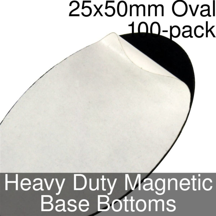 Miniature Base Bottoms, Oval, 25x50mm, Heavy Duty Magnet (100) - LITKO Game Accessories