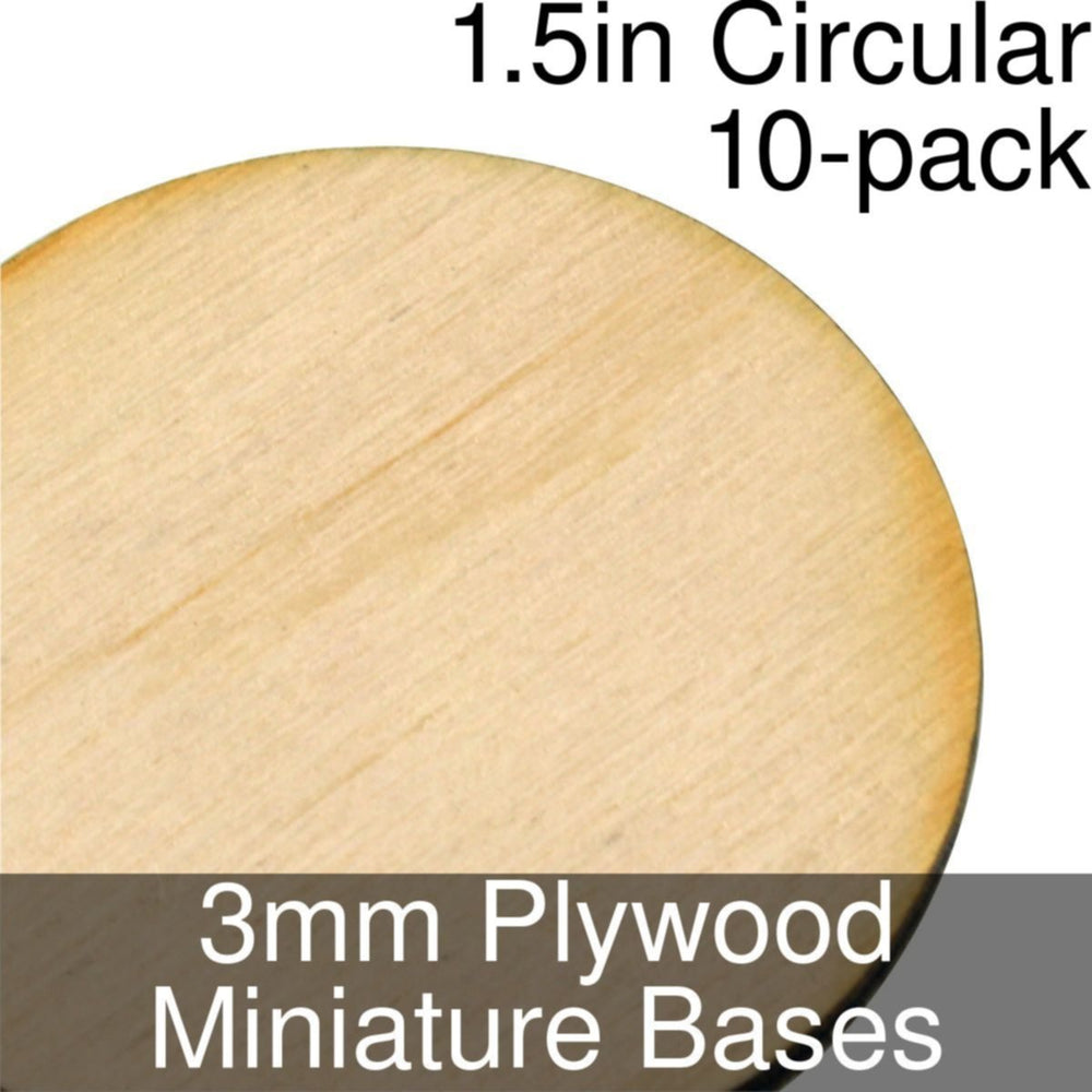 Miniature Bases, Circular, 1.5inch, 3mm Plywood (10) - LITKO Game Accessories